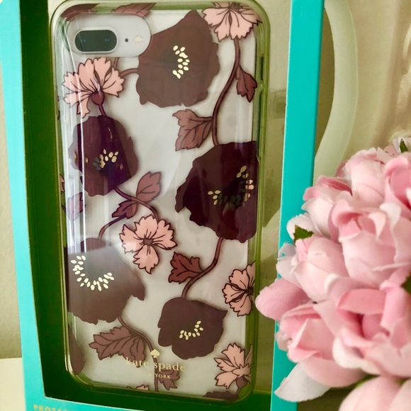 """watch eef51 0f25a 🎀 Kate Spade ♠️ Plum""""Dreamy Floral"""" IPhone Case NWT"""